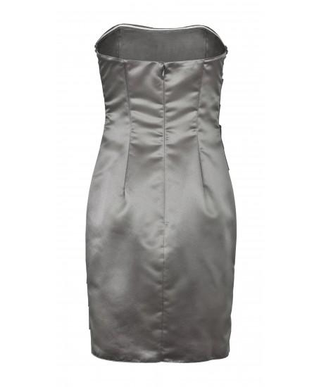 Besticktes Bandeau-Kleid in Grün