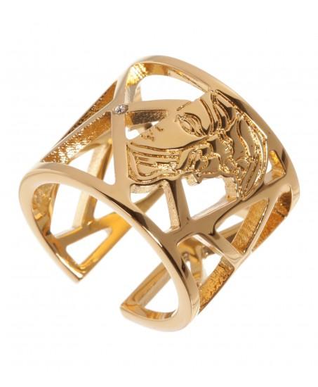 Goldener Ring mit Swarovskistein