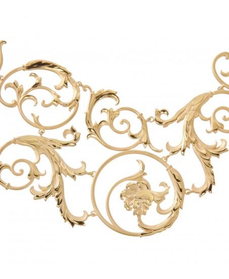Glieder-Collier mit großem Schnörkel-Dekor