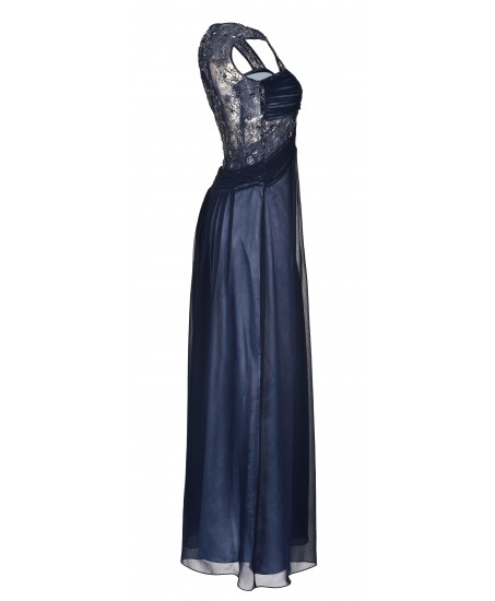 Elegantes Abendkleid mit Spitzeneinsatz