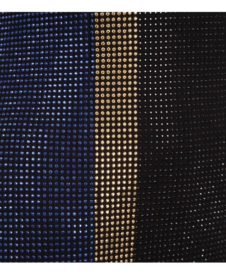 Minikleid mit Swarovski-Strasssteinen aus Jersey