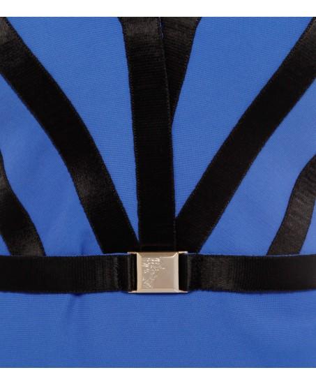 Royalblaues Trägerkleid aus Stretch