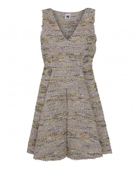 Bouclé-Kleid mit ausgestelltem Rock