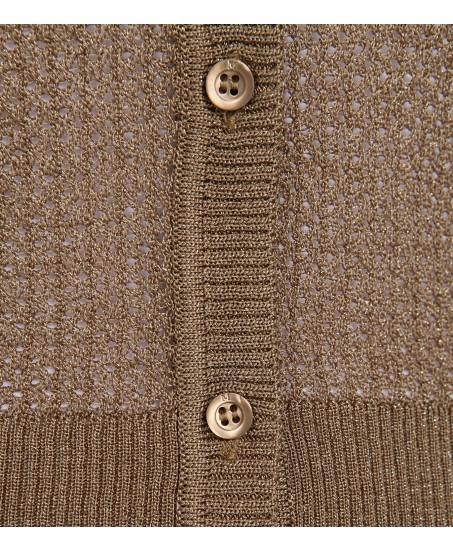 Feine Strickjacke aus metallisiertem Garn