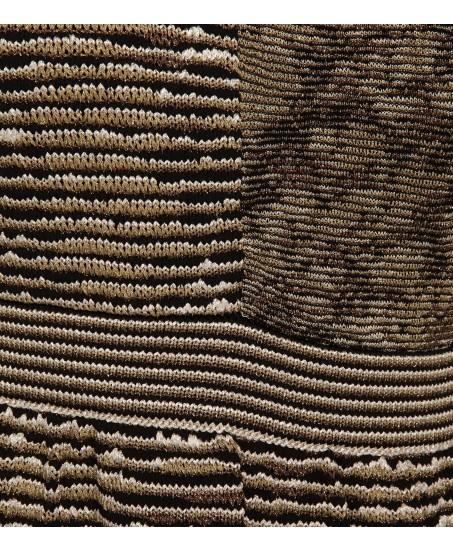 Asymmetrisch gemustertes Strickkleid