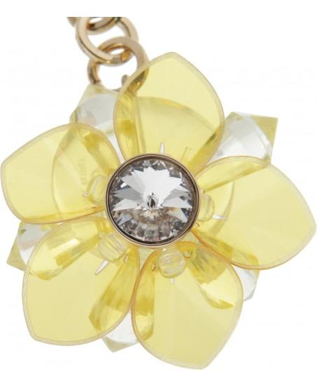 Blumenohrringe in Gelb