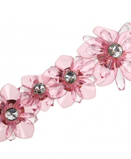 Kette mit rosa Blüten