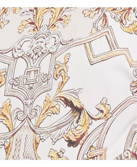 Lange Robe mit Ornamenten-Muster
