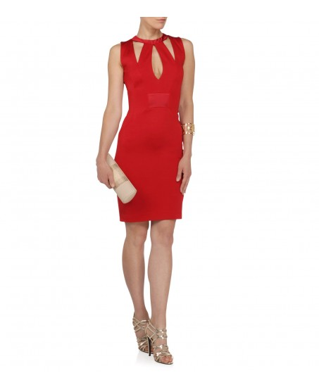 Cocktailkleid mit Cut-Outs in Rot