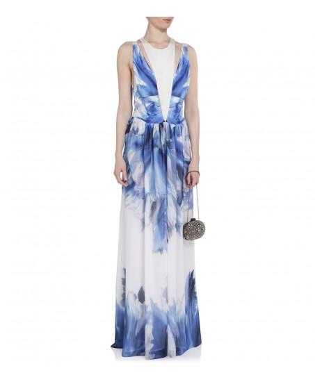 Bodenlanges Kleid mit Blumenmuster