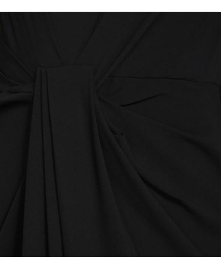 Abendkleid mit Drapierung in der Taille