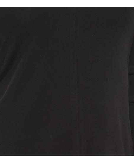 Langärmeliges Etuikleid in Schwarz