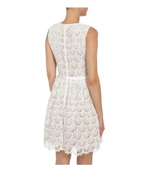 gut aussehen Schuhe verkaufen Verkauf Einzelhändler Kundschaft zuerst Weißes Kleid aus feiner Spitze