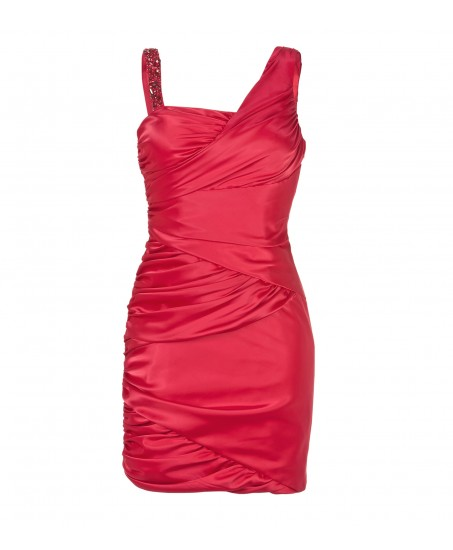 Sexy Red Draped Dress