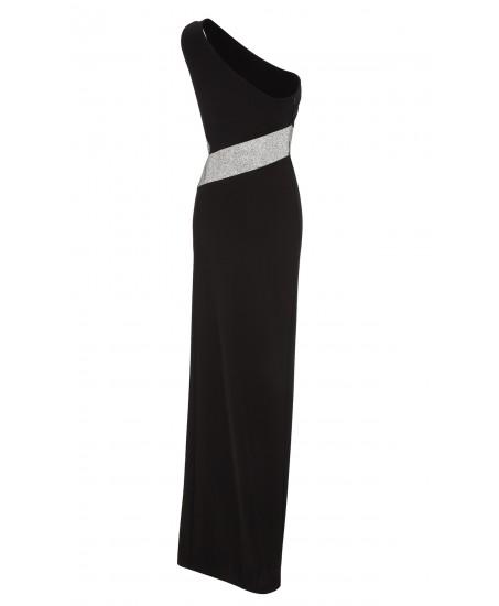 Asymmetrisches Abendkleid aus Stretchjersey