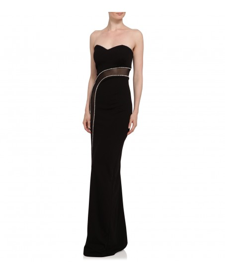 Elegante Abendrobe mit Cut-Out in Schwarz