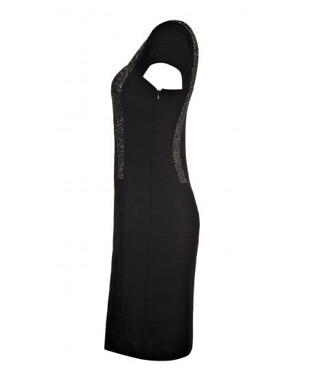 Besticktes Stretch-Minikleid