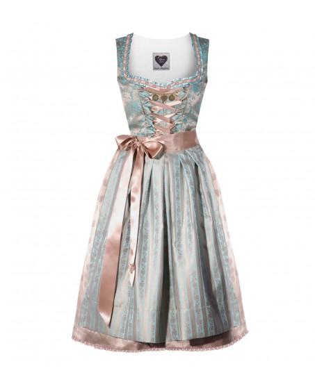 Türkisfarbenes Dirndl Lena mit Ornamentstoff