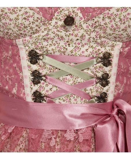 Rosafarbenes Dirndl mit Blumenprint