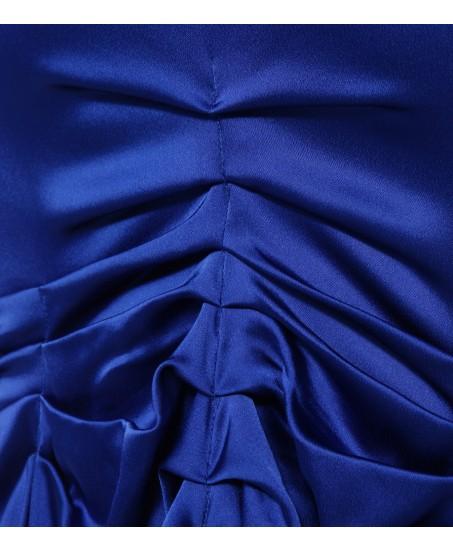 Drapierte Robe in Königsblau