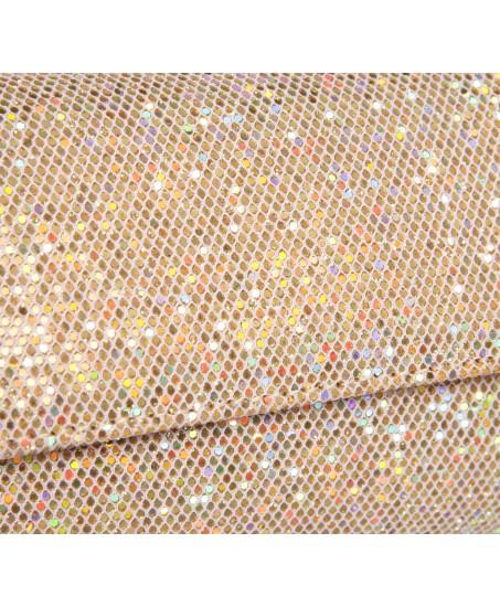 Schmale Glitzer-Clutch in Gold