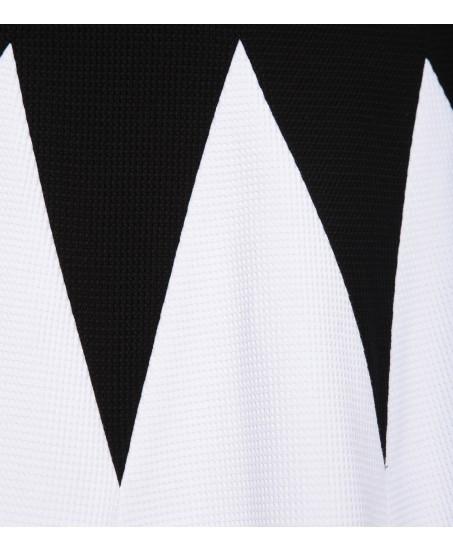 Minikleid mit Zick-Zack Muster in Schwarz-Weiss