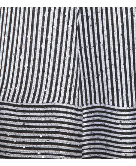 Paillettenkleid in Schwarz/Weiss