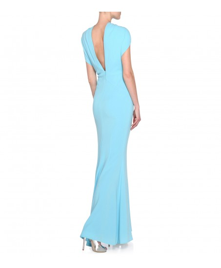 Stretch-Kleid in Hellblau