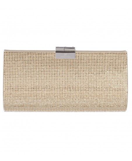 Kristall-Clutch in Gold/Silber