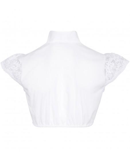 Bluse mit Ärmel aus Spitze in Weiss