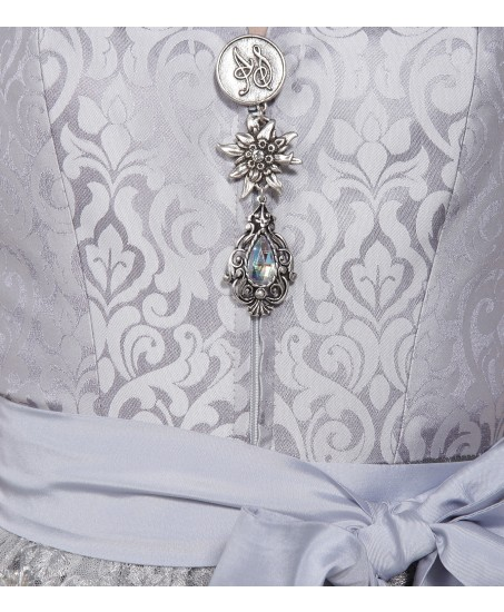 Dirndl mit Spitzenrücken in Silber