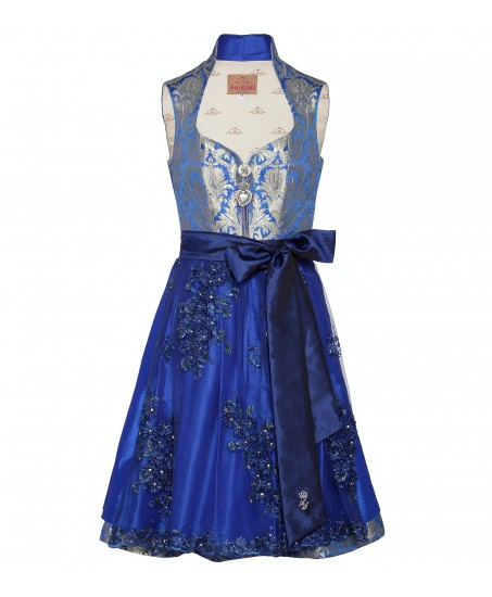 the latest eb9de ce802 Dirndl in Blau mit goldenen Ornamenten