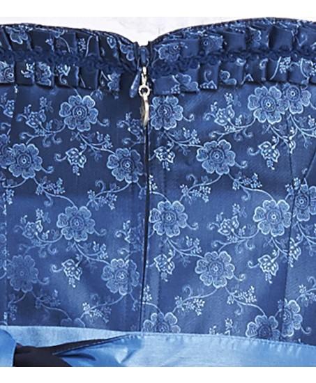 Blaues Dirndl mit Blumenmuster