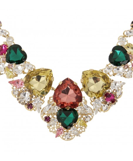 Farbenfrohe Statement-Kette