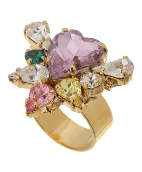 Atemberaubender Ring mit Vintage-Herz