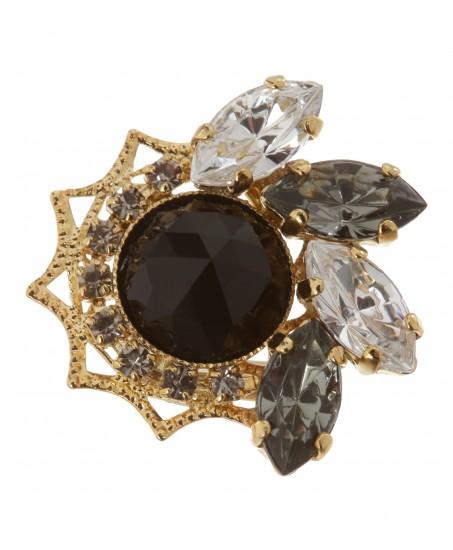 Kleine Ohrstecker mit Swarovski-Kristallen
