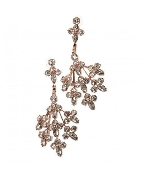 Ohrringe in Roségold mit Kristallen