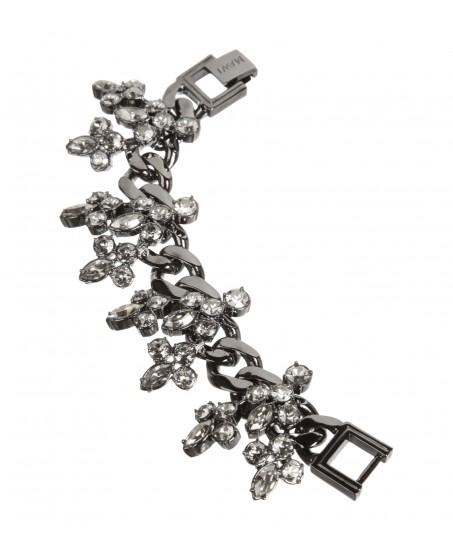Gliederarmband mit Kristallen in Silber