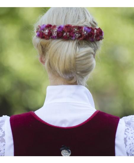Haarreif Heidi in Weinrot
