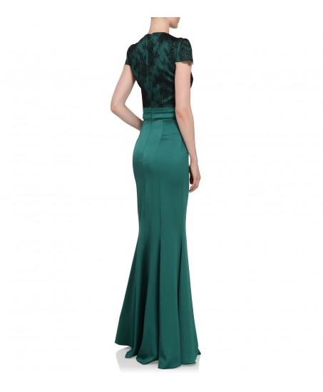 Bodenlanges Abendkleid mit Spitze