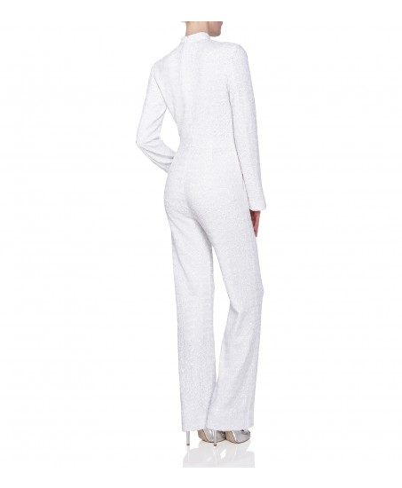 Jumpsuit mit Cut-Out in Weiss