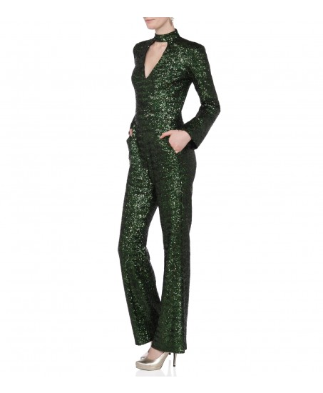 Jumpsuit mit Cut Out in Gruen