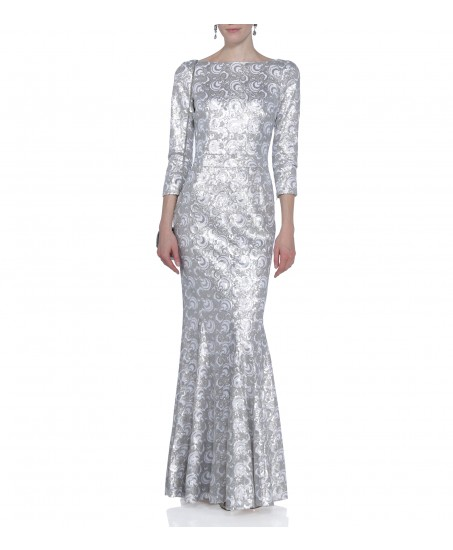 Kleid mit Pailletten in Silber Weiss