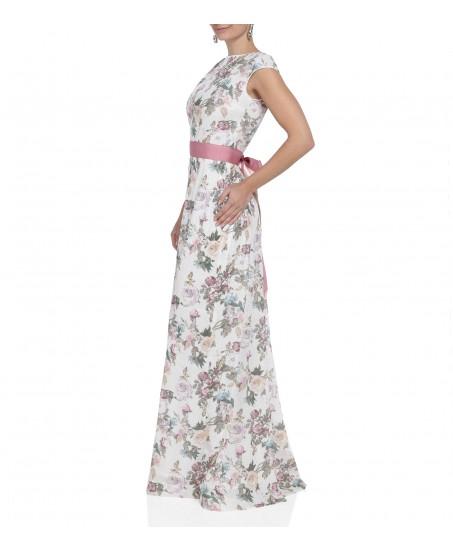 Paillettenkleid mit Blumenprint