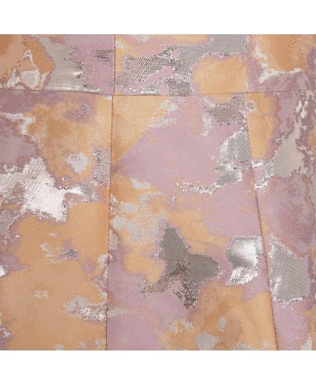 Brokatkleid mit ausgestelltem Rock in Apricot-Rosé