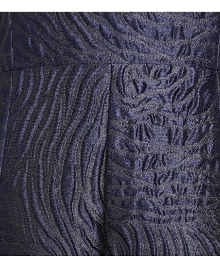 Blaues Cocktailkleid aus Brokat