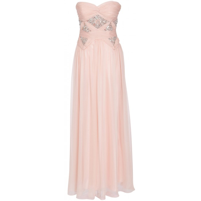 Bodenlanges Bustierkleid in Rosé