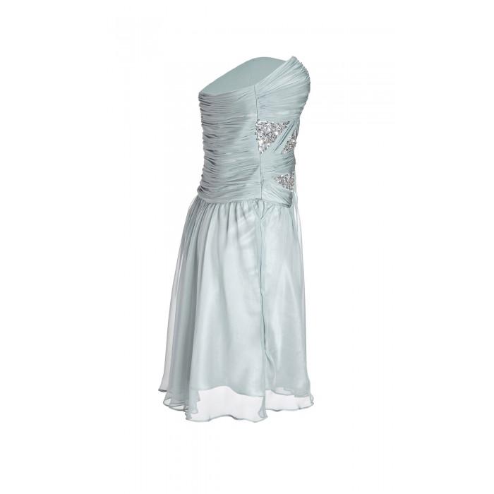 Drapiertes Bustierkleid in Silber