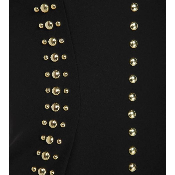 Cocktailkleid mit goldenen Nieten