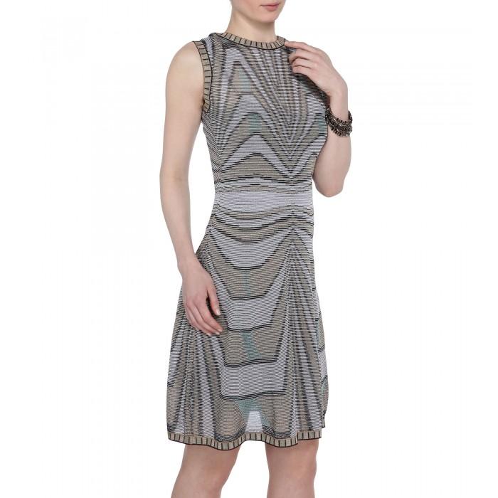 Gemustertes Kleid aus feinem Strick